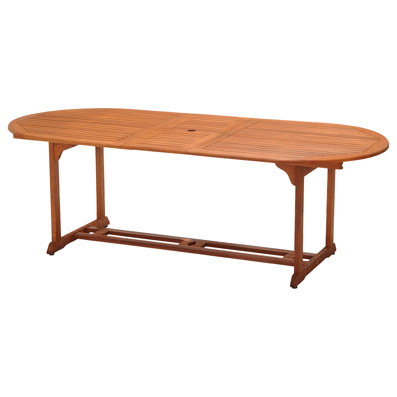BuyJohn Lewis Venice Extending Garden Dining Table, FSC Certified ( Eucalyptus), Natural ...