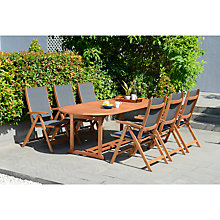 Buy John Lewis Venice Extending Dining Table & 6 Reclining Armchairs, FSC-Certified (Eucalyptus), Natural Online at johnlewis.com