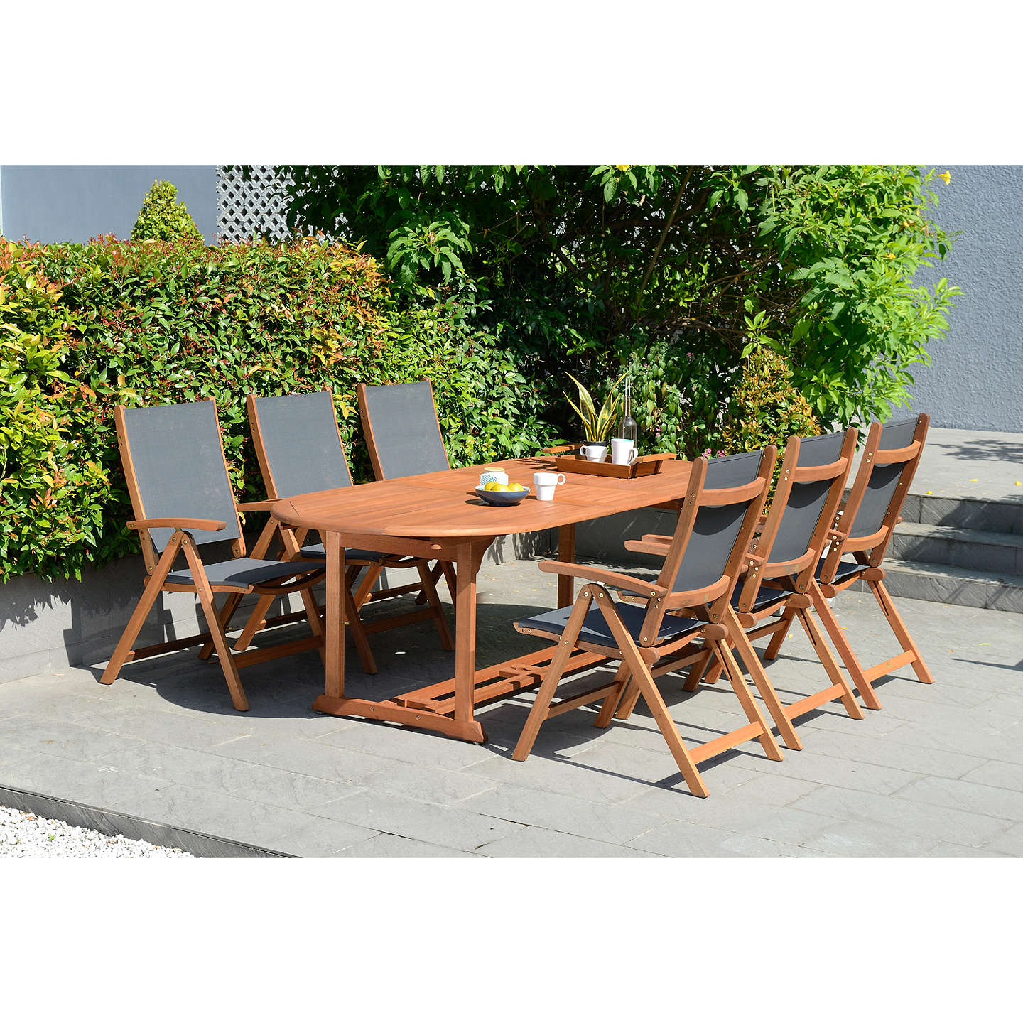 Garden Table And Chairs Set John Lewis: John Lewis Venice Extending Garden Dining Table & 6