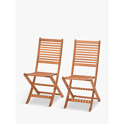 John Lewis Venice Folding Chairs, FSC-Certified (Eucalyptus), Set of 2