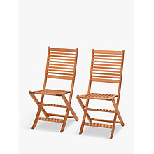 Buy John Lewis Venice Folding Chairs, FSC-Certified (Eucalyptus), Set of 2 Online at johnlewis.com