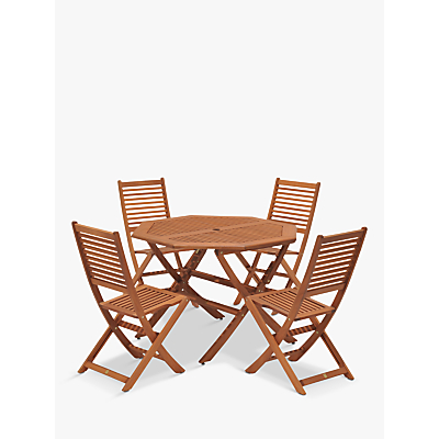 John Lewis Venice 4 Seater Table & Chairs Set, FSC-Certified (Eucalyptus), Natural