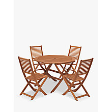 Buy John Lewis Venice 4 Seater Table & Chairs Set, FSC-Certified (Eucalyptus), Natural Online at johnlewis.com