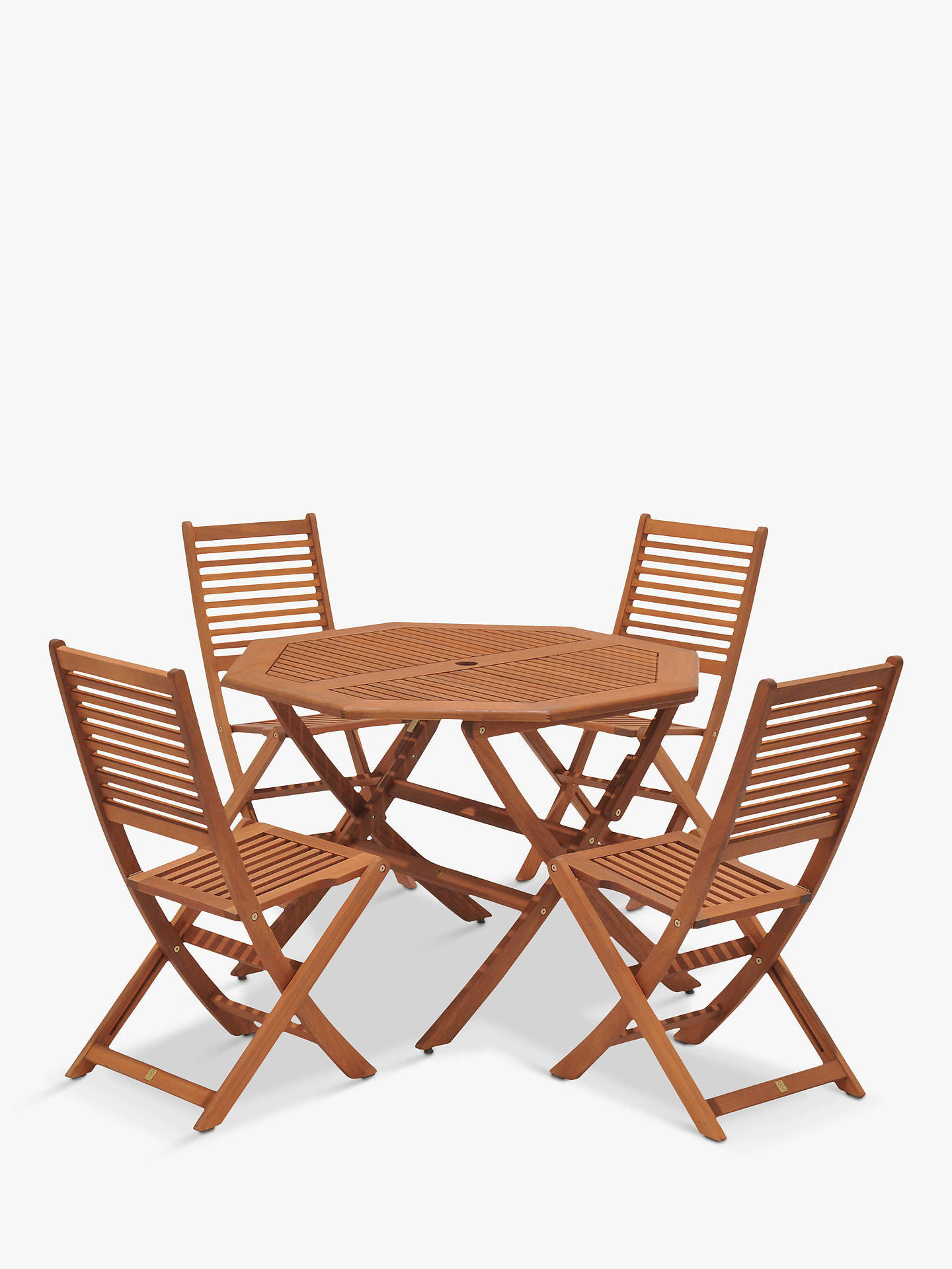d88600c7419b Buy John Lewis & Partners Venice 4 Seater Garden Table & Chairs Set, FSC-  ...
