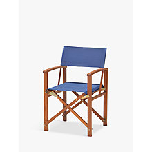 Buy John Lewis Directors Chair, FSC-Certified (Eucalyptus), Navy Online at johnlewis.com