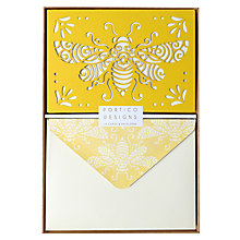 Buy Portico Laser Cut Bumble Bee Notecards, Box Of 10 Online at johnlewis.com