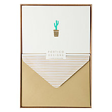 Buy Portico Cactus Notecards, Box of 10 Online at johnlewis.com