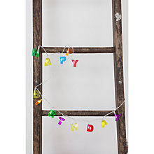 Buy Kikkerland 'Happy Birthday' String Lights Online at johnlewis.com