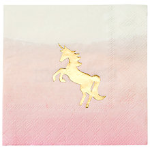 Buy Talking Tables We Heart Unicorns Cocktail Napkins, Pack of 16 Online at johnlewis.com