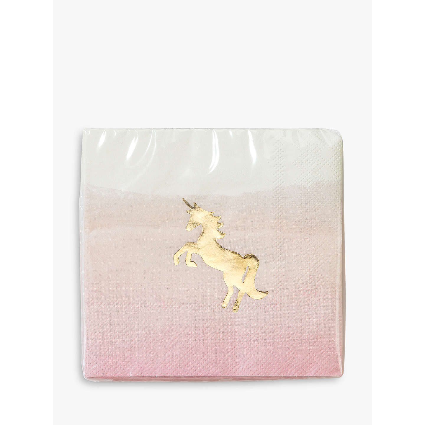 BuyTalking Tables We Heart Unicorns Cocktail Napkins, Pack of 16 Online at johnlewis.com