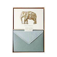 Buy Portico Elephant Thank You Notecards, Box of 10 Online at johnlewis.com