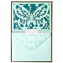 Buy Portico Laser Cut Floral Butterfly Notecards, Box of 10 Online at johnlewis.com