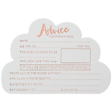 Buy Ginger Ray Hello Word Advice Cards Online at johnlewis.com