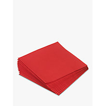Buy Paper Napkins, 33cm, Set of 20, Red Online at johnlewis.com