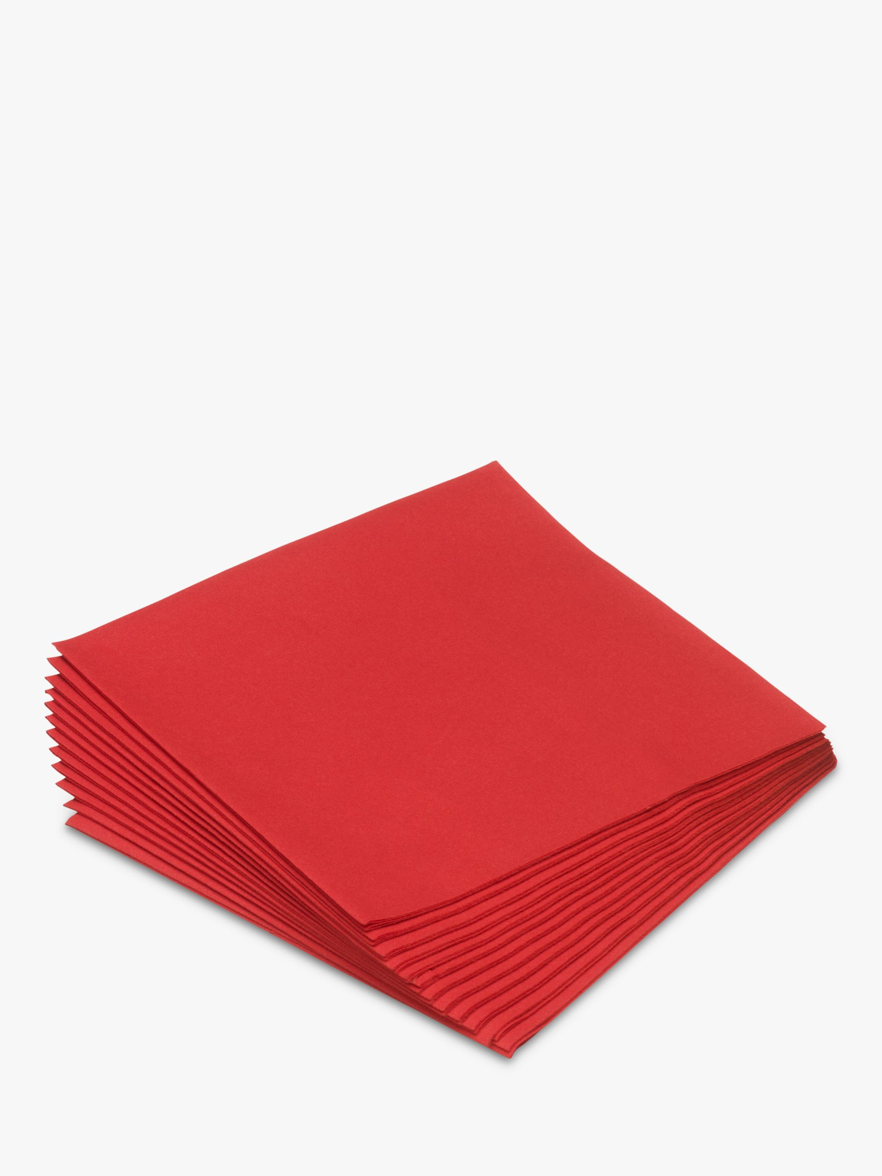 Duni Paper Napkins, 33cm, Set of 20, Red