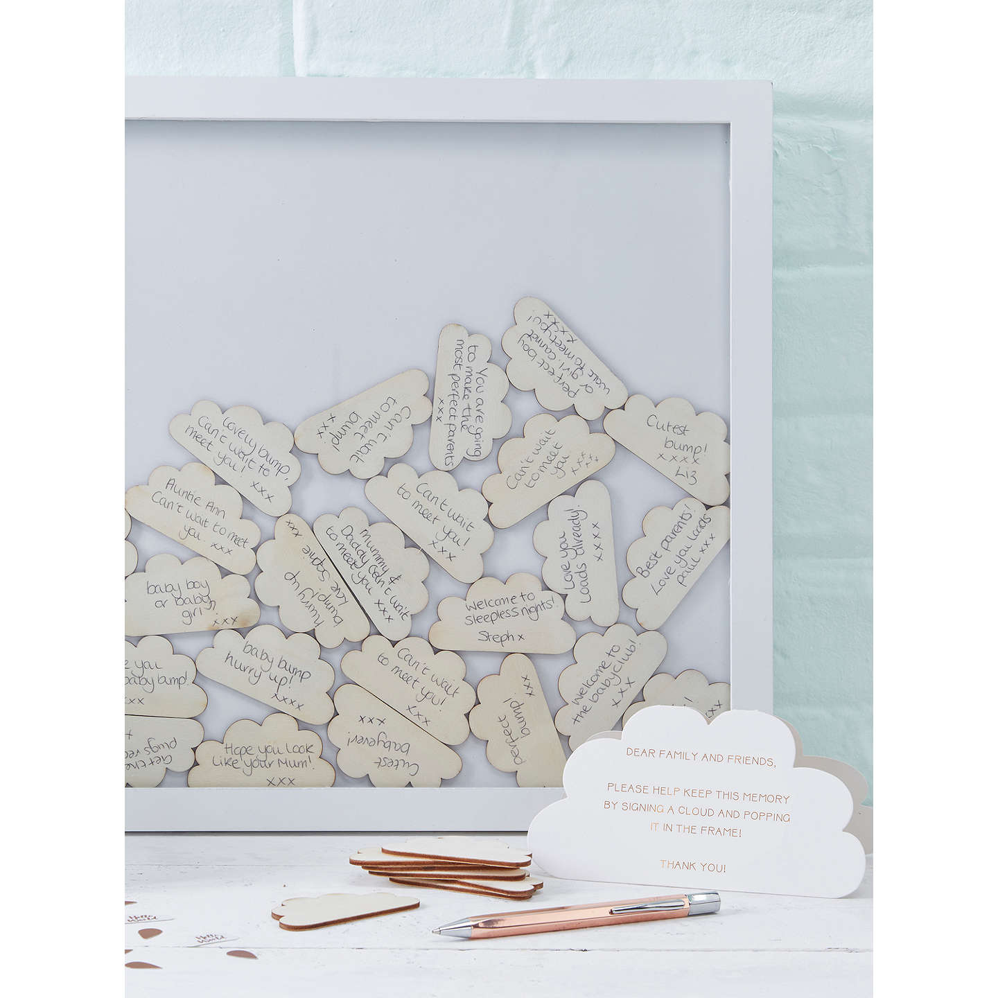 Ginger ray hello world guest book frame at john lewis buyginger ray hello world guest book frame online at johnlewis gumiabroncs Choice Image