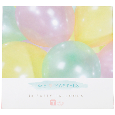 Product photo of Talking tables we heart pastels balloons pack of 12