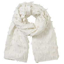 Buy John Lewis Fil Coupe Textured Scarf, White Online at johnlewis.com