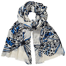 Buy John Lewis Butterfly Print Scarf, Blue Mix Online at johnlewis.com