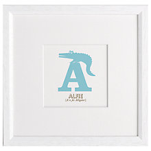 Buy Letterfest Children's Name Animal Alphabet Framed Print Online at johnlewis.com