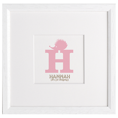 Letterfest Children's Name Animal Alphabet Framed Print