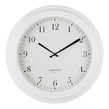 Buy John Lewis Croft Canterbury 50cm Metal Wall Clock, Cream Online at johnlewis.com
