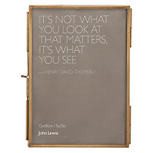 "Buy John Lewis Antique Freestanding Photo Frame, 5 x 7"" (13 x 18cm) Online at johnlewis.com"