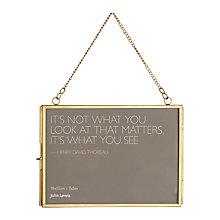 "Buy John Lewis Antique Hanging Photo Frame, 5 x 7"" (13 x 18cm) Online at johnlewis.com"