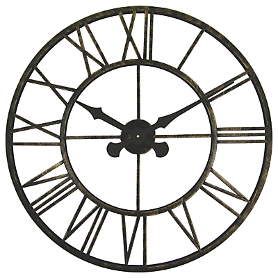 Brookpace Large Skeleton Metal Outdoor Clock, Dia.70cm