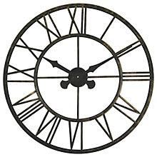 Buy Brookpace Large Skeleton Metal Outdoor Clock, Dia.70cm Online at johnlewis.com