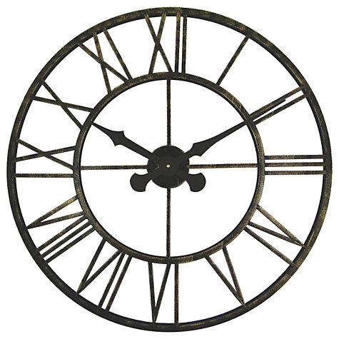 Buy Brookpace Large Skeleton Metal Outdoor Clock Dia70cm Online At Johnlewis