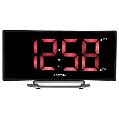 Acctim Sierra Curved LED Alarm Clock, Black