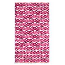 Buy John Lewis Dakara Diamond Beach Towel, Fuchsia Online at johnlewis.com