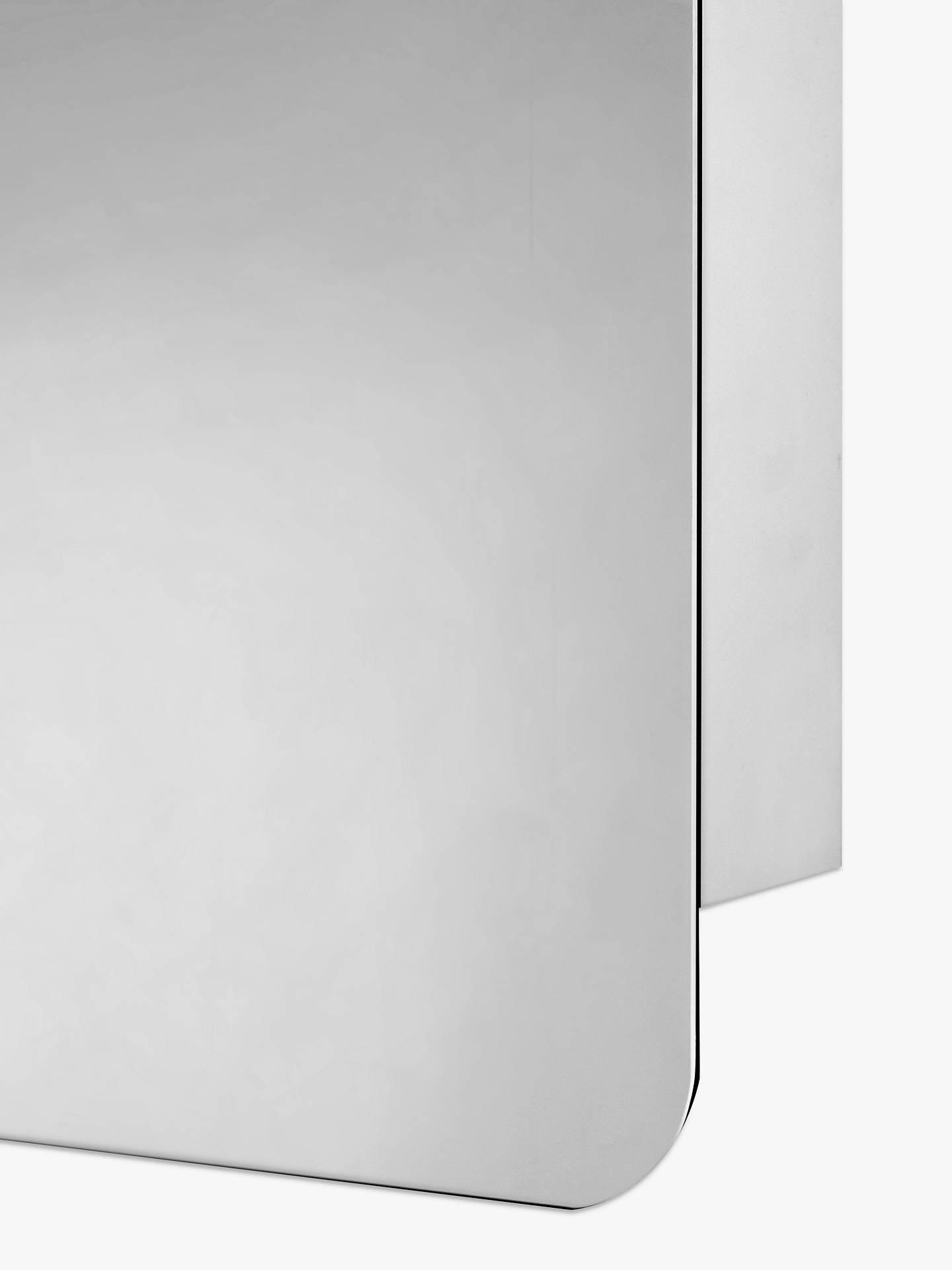 John Lewis Partners Single Mirrored Sliding Door Bathroom Cabinet