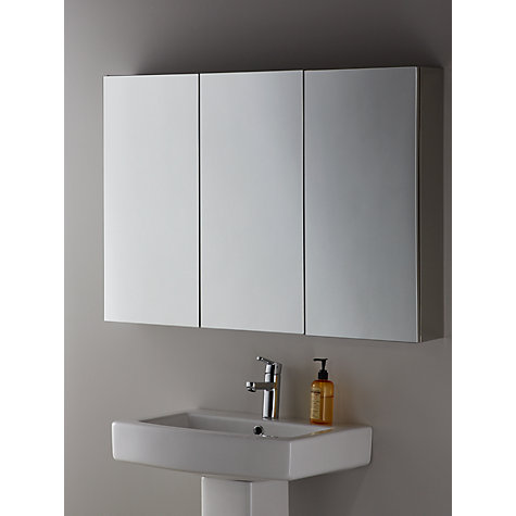 buy john lewis triple mirrored bathroom cabinet john lewis