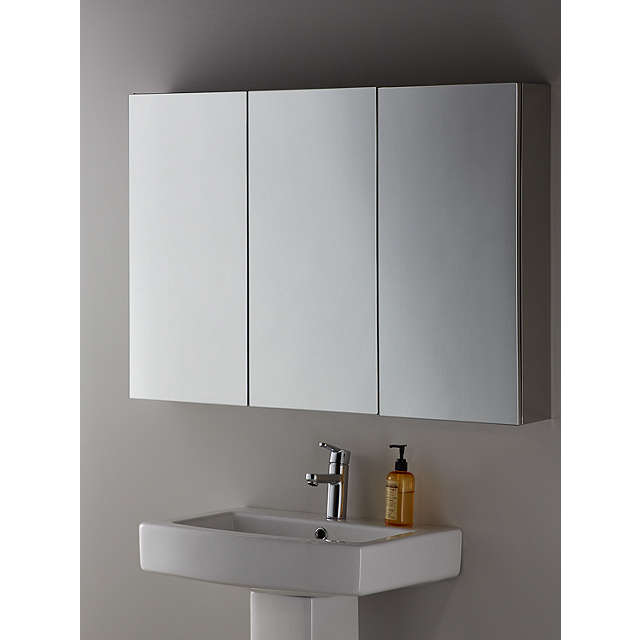 ... BuyJohn Lewis Triple Mirrored Bathroom Cabinet Online At Johnlewis.com  ...