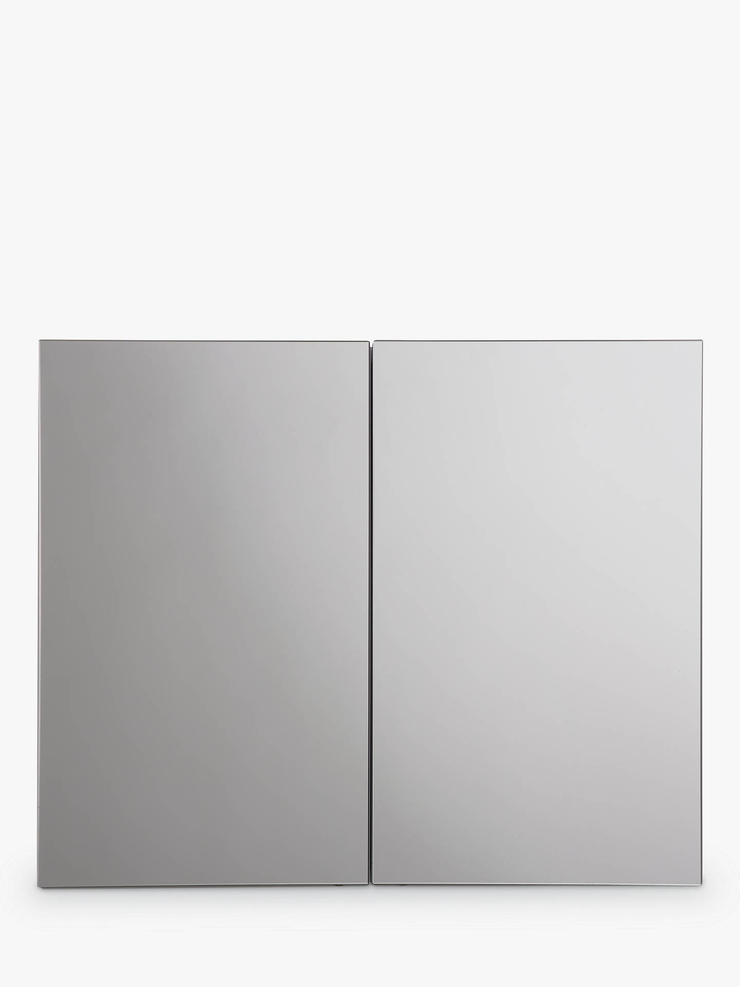 Buy John Lewis & Partners Double Mirrored Bathroom Cabinet, White Metal Online at johnlewis.com