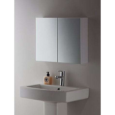 buy john lewis white metal double bathroom cabinet online at johnlewiscom - Bathroom Cabinets John Lewis