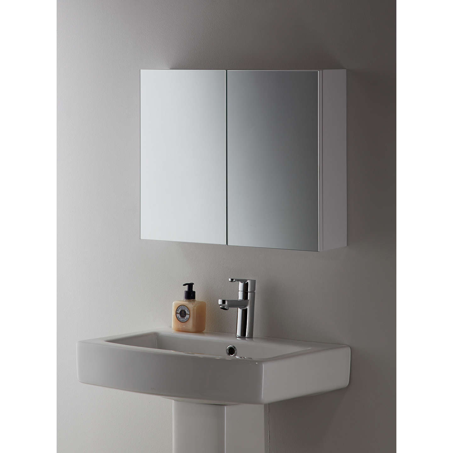 John lewis white metal double bathroom cabinet at john lewis John lewis bathroom design and fitting
