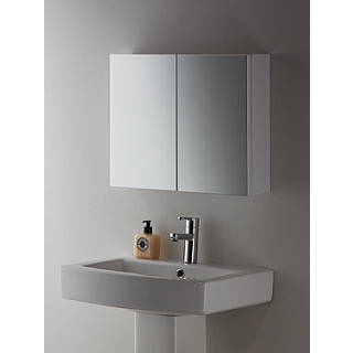 Charmant John Lewis White Metal Double Bathroom Cabinet