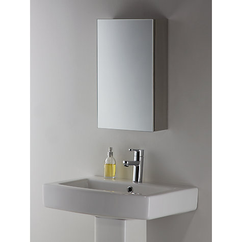 John Lewis Small Single Mirrored Bathroom Cabinet Online At Johnlewis