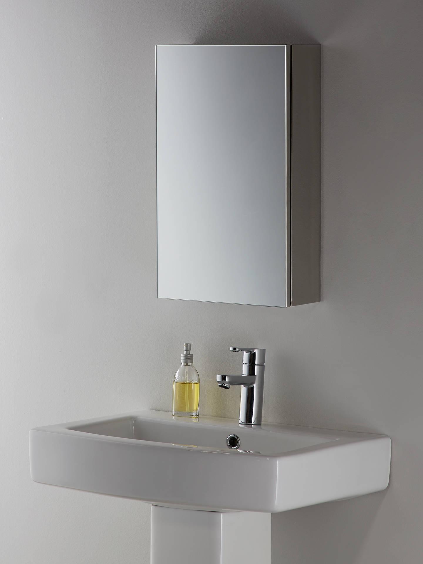 John Lewis Partners Small Single Mirrored Bathroom Cabinet