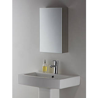 John Lewis Small Single Mirrored Bathroom Cabinet