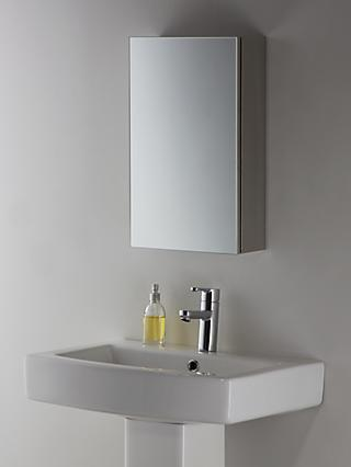 John Lewis & Partners Small Single Mirrored Bathroom Cabinet