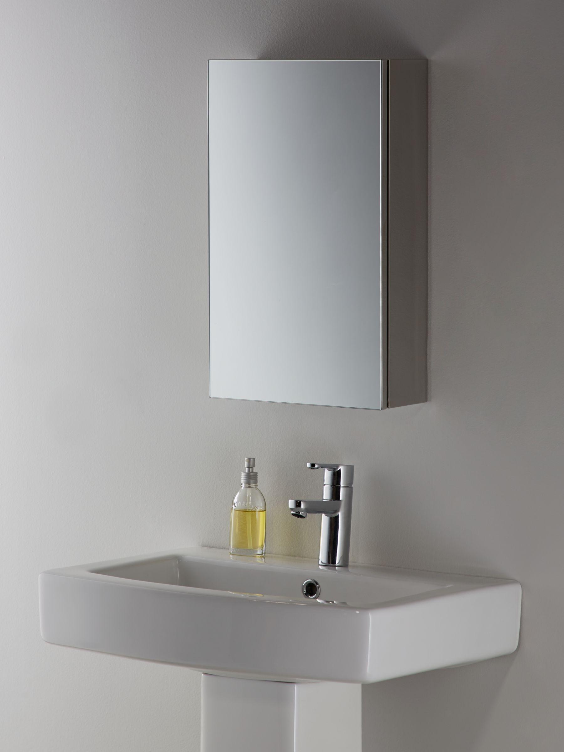 John lewis small single mirrored bathroom cabinet for Bathroom cabinets john lewis uk