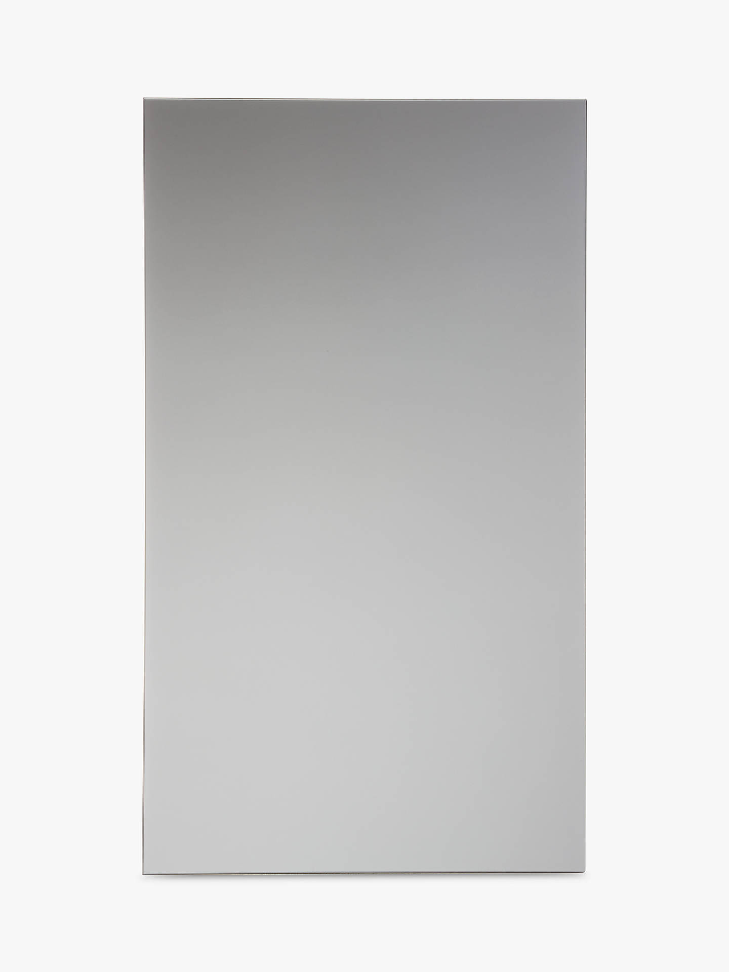 Buy John Lewis & Partners Single Mirrored Bathroom Cabinet, Silver Online at johnlewis.com