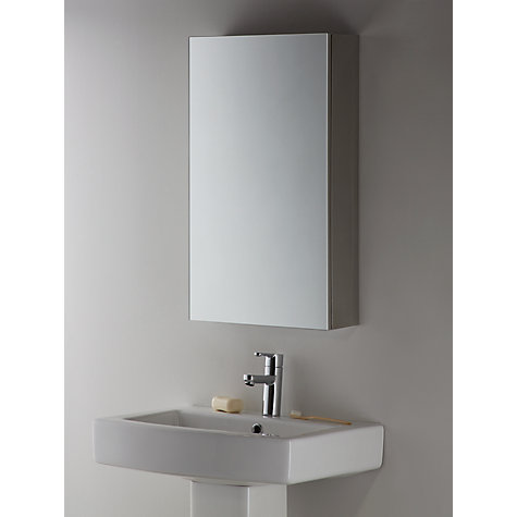 buy john lewis single mirrored bathroom cabinet online at johnlewiscom - Bathroom Cabinets John Lewis