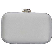 Buy Rainbow Club Satin Box Clutch Bag, Ivory Online at johnlewis.com