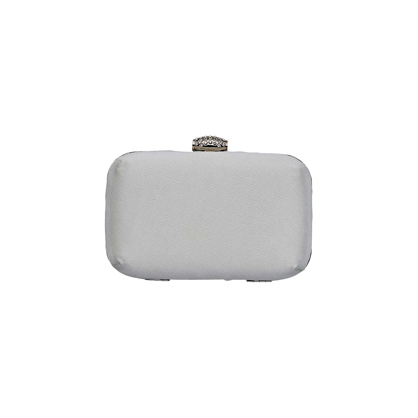 BuyRainbow Club Imani Satin Box Clutch Bag, Ivory Online at johnlewis.com
