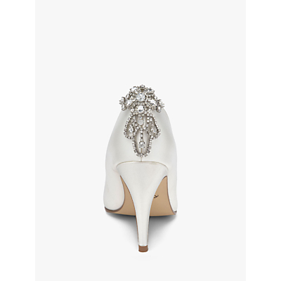 Vintage Style Wedding Shoes, Boots, Flats, Heels Rainbow Club Electra Diamante Shoe Clips Silver £38.00 AT vintagedancer.com